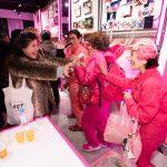 ピンクに染まったEDWIN HARAHJUKU 3周年パーティー